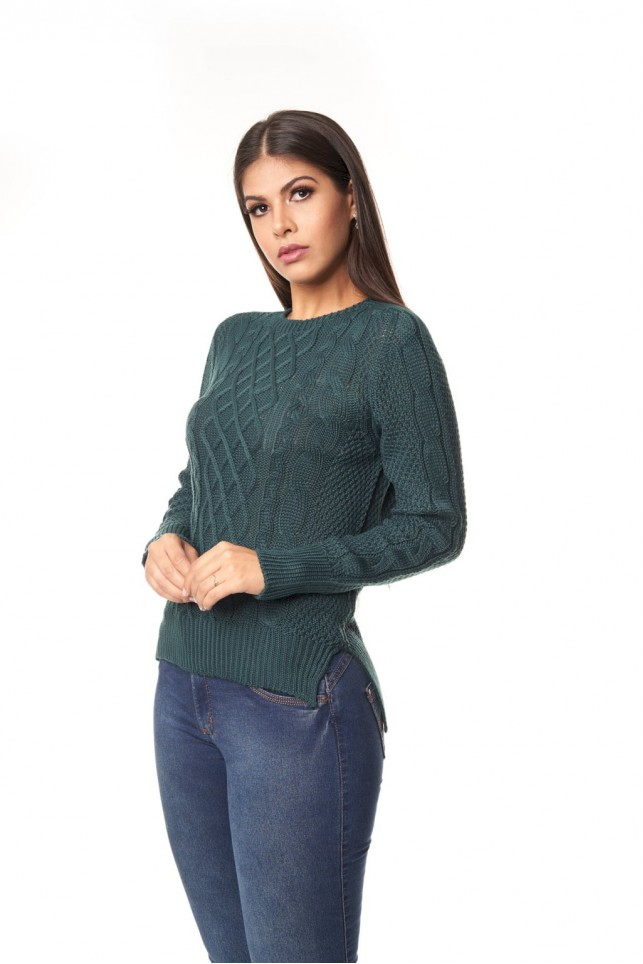 Blusa linha mullet swg fenda lateral - 1115