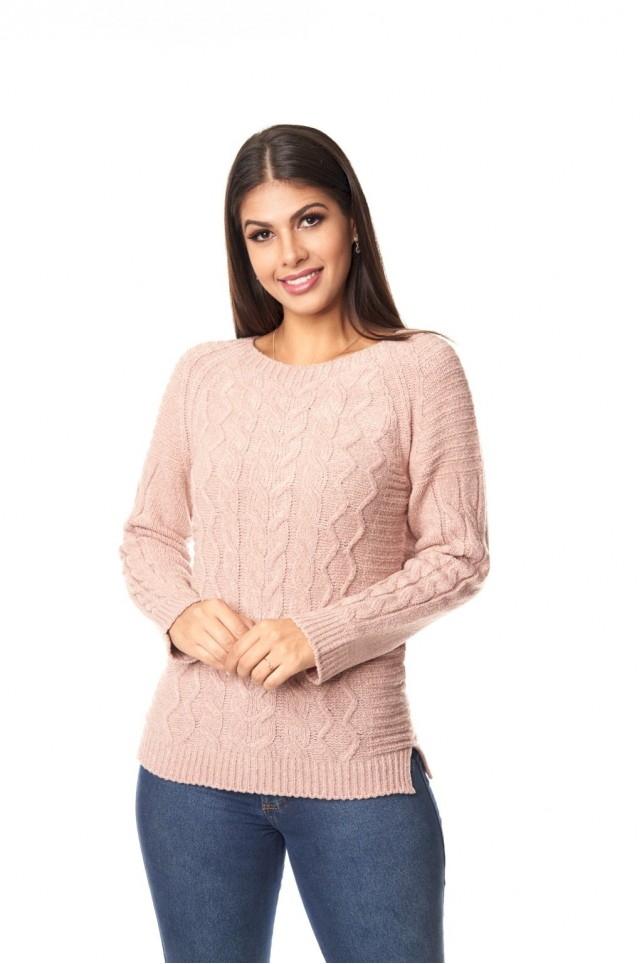 Blusa mousse swg fenda lateral - 1119