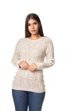 Blusa mousse swg botoes lateral- 1124